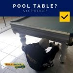 Pool table relocation